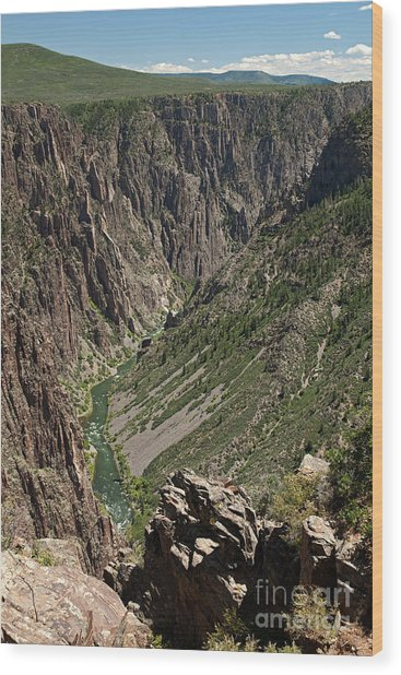 Pulpit Rock Overlook Black Canyon Of The Gunnison Wood Print