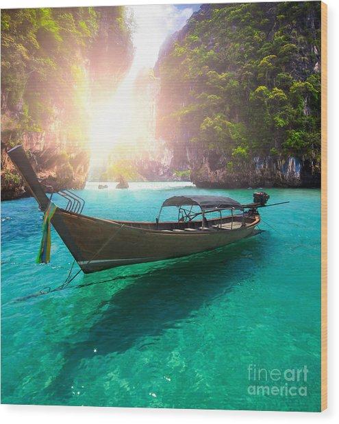 Railay Beach Wood Print