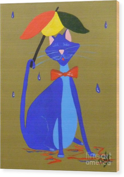 Rain Bow Wood Print
