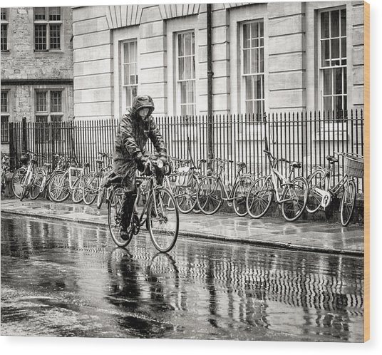 Rainy Day Ride Wood Print