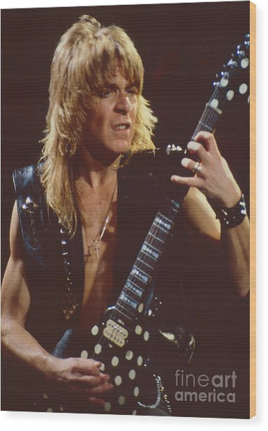 Randy Rhoads At The Cow Palace In San Francisco - 1st Concert Of The Diary Tour Wood Print