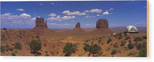 Rock Formations In A Desert Wood Print