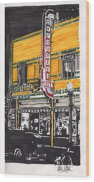 Rosemount Grill Wood Print by Paul Guyer