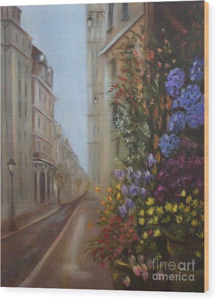 Rue De Fleur Wood Print