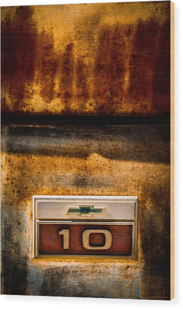 Rusted C10 Wood Print