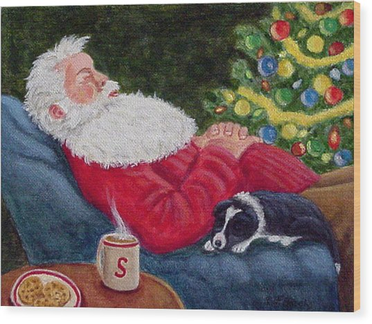 Santa And Breagh Wood Print