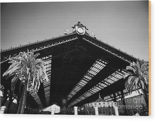 Santiago Central Railway Station Chile Wood Print by Joe Fox