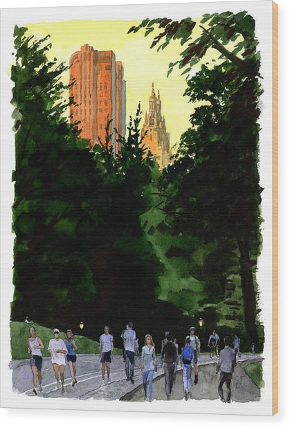 September Walk Wood Print