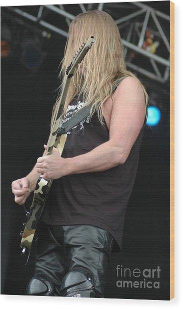 Slayer-jeff Hanneman Wood Print