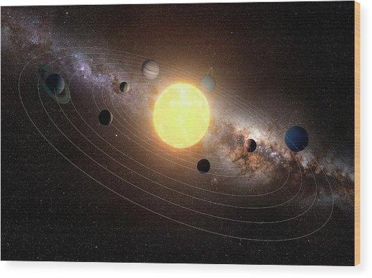 Solar System, Artwork Wood Print