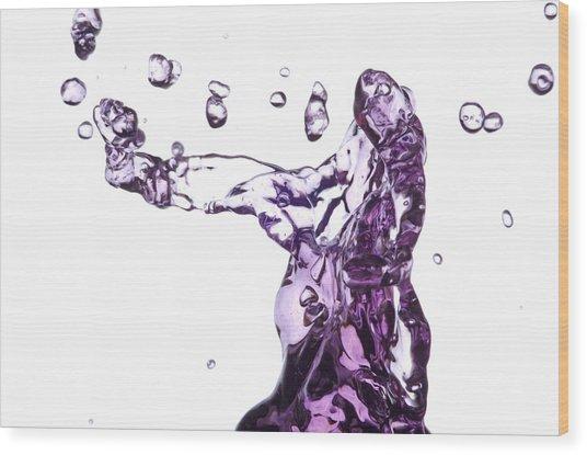 Splash 3 Wood Print