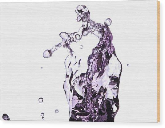 Splash 4 Wood Print