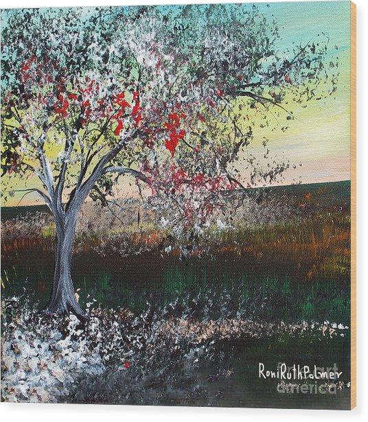 Spring Wood Print by Roni Ruth Palmer