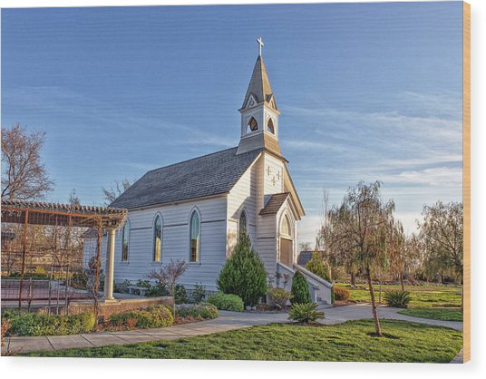 Wood Print featuring the photograph St. Mary's Chapel by Jim Thompson