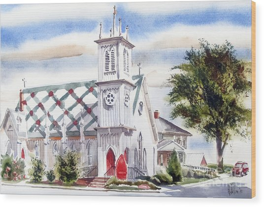 St Pauls Episcopal Church  Wood Print