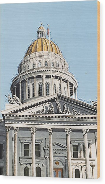 State Capitol Wood Print by Paul Guyer