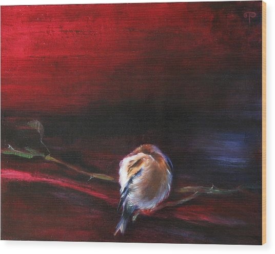 Still Life - Original Painting. Part Of A Diptych Wood Print by Tanya Byrd