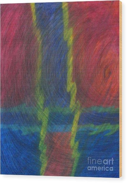 Storm I Wood Print