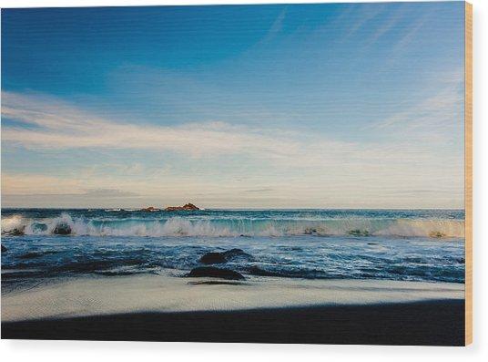 Sunlight On Beach Wood Print