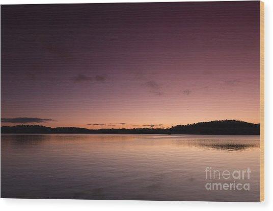 Sunrise On Lake Lanier Wood Print