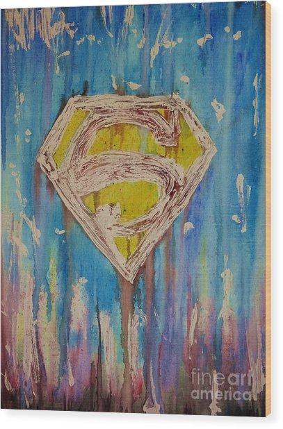 Superman's Shield Wood Print