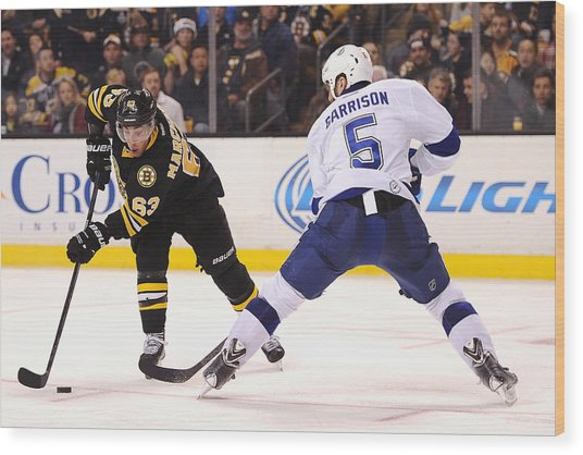 Tampa Bay Lightning V Boston Bruins Wood Print by Maddie Meyer