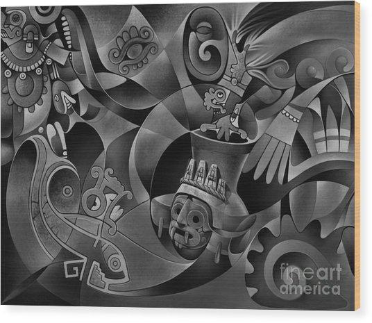 Tapestry Of Gods - Tlaloc Wood Print