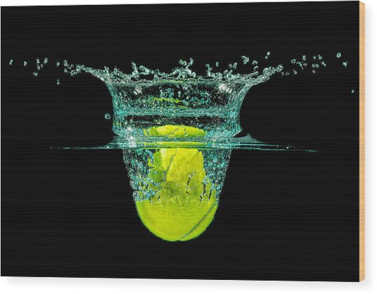 Tennis Ball Wood Print