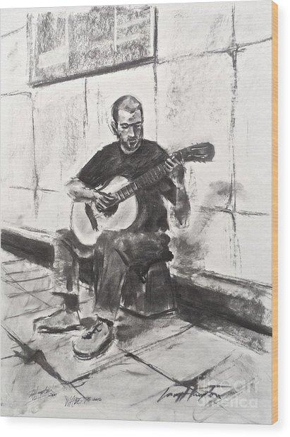 The Acoustic Man Wood Print