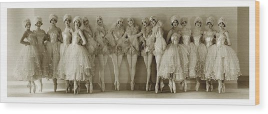 The Albertina Rasch Girls In Rio Rita Wood Print by Florence Vandamm