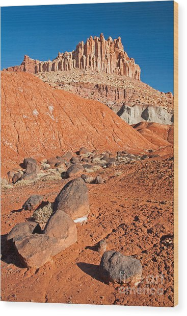 The Castle Capitol Reef National Park Wood Print