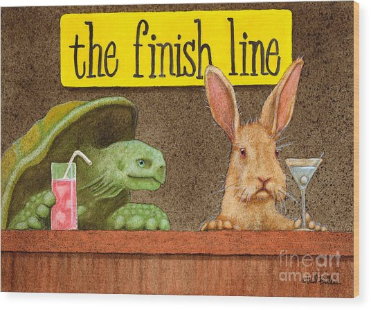 The Finish Line... Wood Print