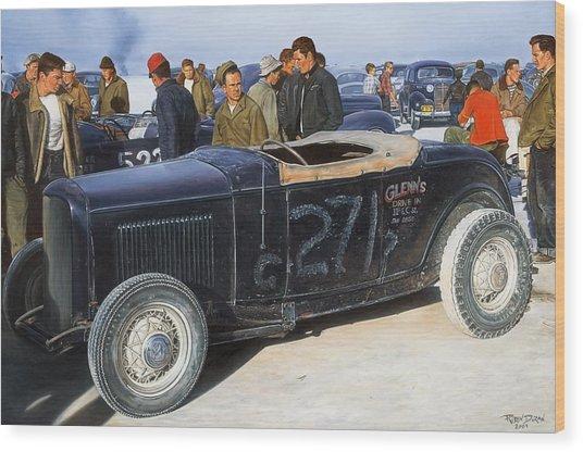The Frank English Roadster Wood Print