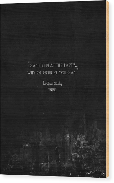 The Great Gatsby Wood Print