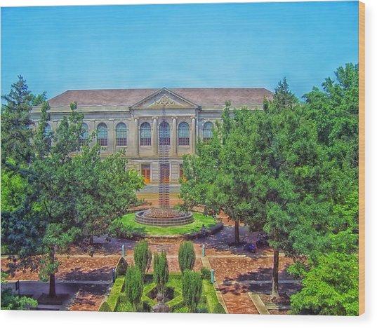The Old Main - University Of Arkansas Wood Print