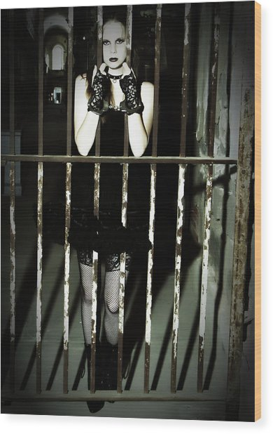 The Prisoner Wood Print