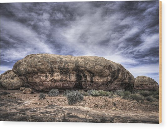 The Rock Wood Print by Arnie Arnold