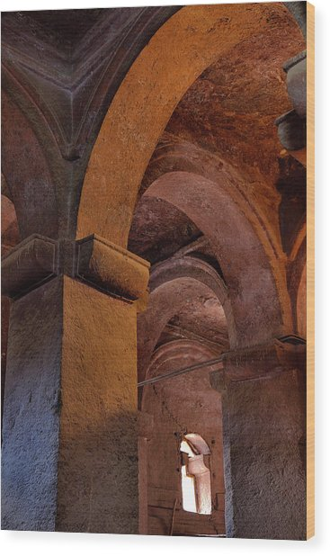 The Rock-hewn Churches Of Lalibela Wood Print by Martin Zwick