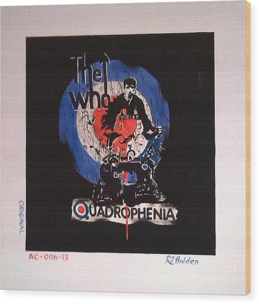 The Who - Quadrophenia Wood Print by Richard John Holden RA