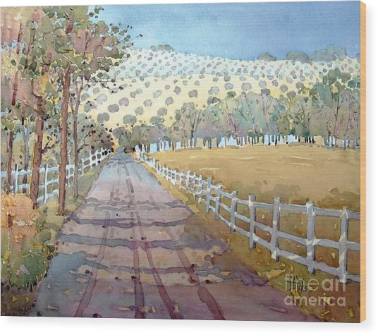 This Way To The Vineyard Wood Print
