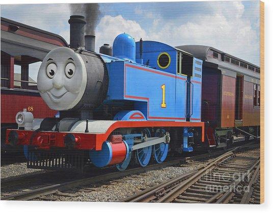 Thomas The Engine Wood Print