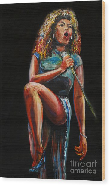 Tina Turner Wood Print