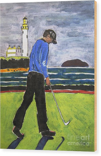 Tom Watson Turnberry 2009 Wood Print by Lesley Giles