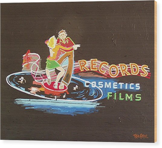 Tower Records Wood Print by Paul Guyer