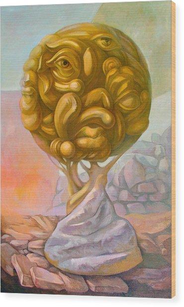 Tree Of Knowledge Wood Print by Filip Mihail