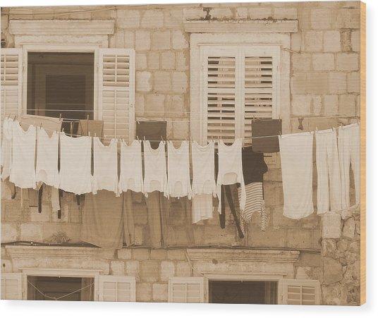 Tuscan Laundry Wood Print
