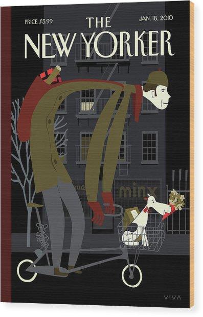 New Yorker January 18th, 2010 Wood Print by Frank Viva
