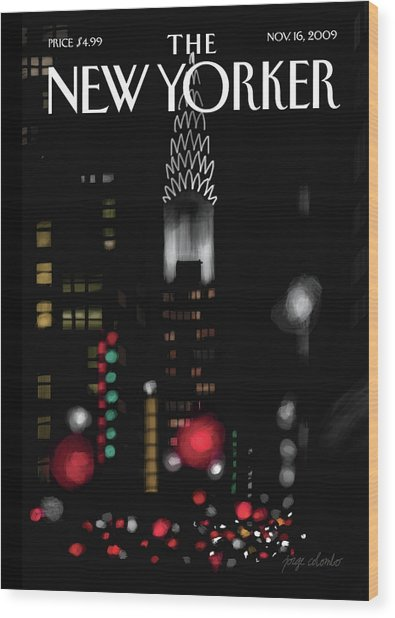 Night Lights Wood Print by Jorge Colombo