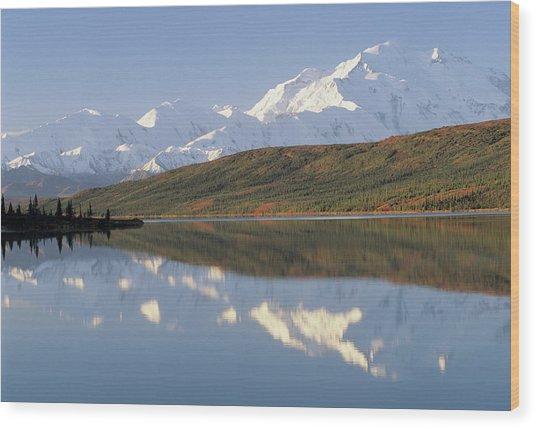 Usa, Alaska, Mount Mckinley, Wonder Wood Print