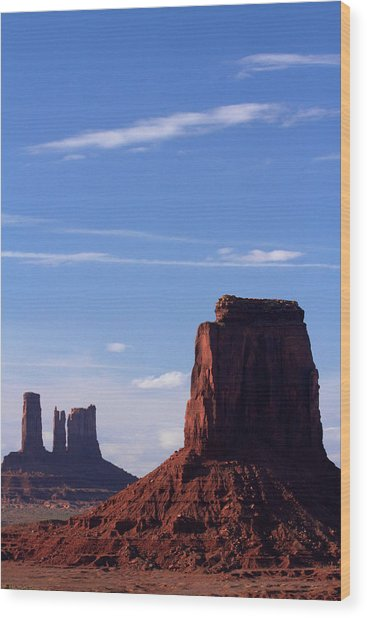 Utah Arizona Border, Navajo Nation Wood Print